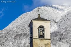Il campanile della chiesa di Biolo