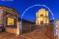 Costiera dei Cech, luci natalizie alla chiesa di Civo