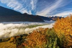 Nebbia in bassa valle vista dai pressi di Buglio in Monte