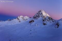 Val Cedec. Crepuscolo al Gran Zebrù m 3857