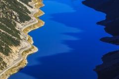 Il lunghissimo lago di Livigno