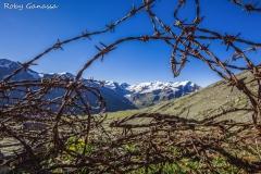 Val Cedec, filo spinato al passo dei Forni m 3003