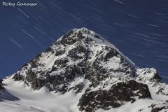 Val Cedec, startrail sul Gran Zebrù m 3851