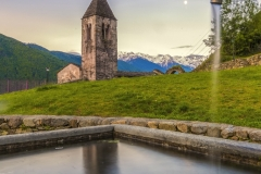 La fontana dello Xenodochio di Santa Perpetua sopra a Tirano
