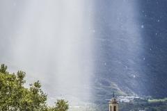 Rovesci di pioggia a Castione Andevenno