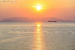 L'isola d'Elba vista da Cape Corse