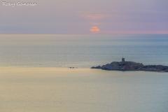 Cargese, la torre di Oligna al tramonto