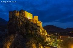 Castello della Cittadella di Corte di sera