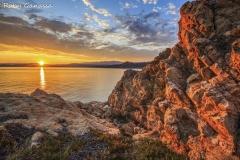 Le rocce rosse dell'Ile Rousse all'alba