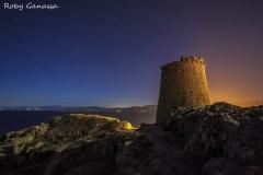 Di notte alla torre dell'Ile Rousse