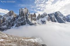Le Pale di San Martino e la cima di Fobocon