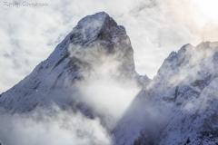 La cima del Sass de Putia dal passo delle Erbe