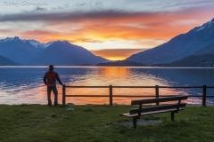 Dongo, alba sul lago di Como
