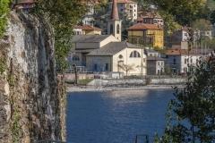 Lago di Como, la chiesa di Calozzo