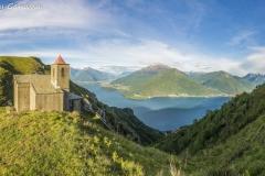 Il lago di Como dalla chiesetta di San Bernardo