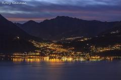 Menaggio di sera sul lago di Como