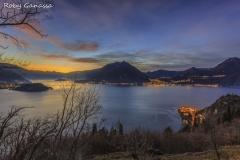 Tramonto sul lago di Como e Varenna