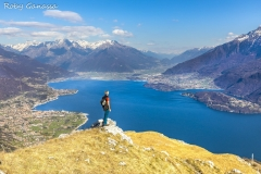 Dal Sasso di Musso sguardo sul lago di Como e la Valtellina