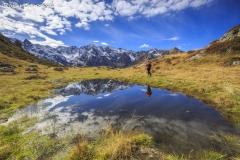 Escursionista in val d'Arigna