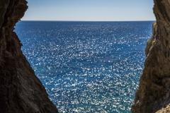 Formazioni rocciose durante il trekking del Selvaggio Blu