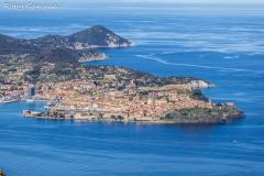 La penisola di Portoferraio all'isola d'Elba