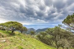 Nuvole Mammatus dalla cima del Monte all'isola d'Elba