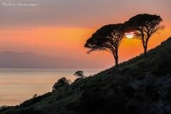 Isola d'Elba, tramonto nei pressi di Pomonte