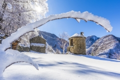 Val Fabiolo, nevicata alla Casa Rotonda