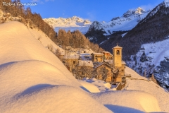 Val dei Ratti, tramonto a Frasnedo m 1287