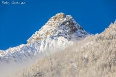 Abbondante nevicata sul Corno di Braccia
