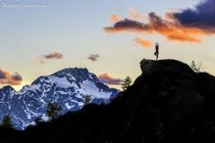 Yoga al cospetto del monte Disgrazia
