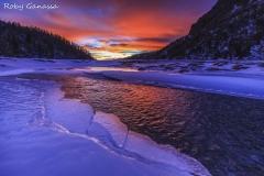 Ghiaccio, acqua e tramonto a Preda Rossa