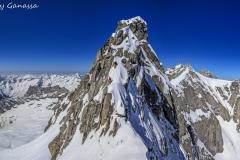 Alpinisti impegnati sul pizzo del Ferro