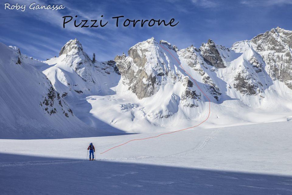 La traccia di salita al pizzo Torrone centrale